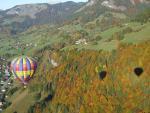 An automn balloon ride over Praz sur Arly
