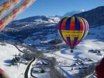 vol en montgolfière face au Mont-Blanc