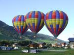 three balloons are taking-off from Praz sur Arly