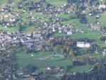 le village de Combloux vu de la montgolfière