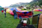 on the take off place in praz sur Arly