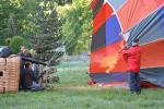 burners heat the air to inflate the balloon
