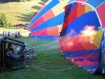 préparation des montgolfières