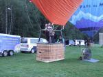 boarding a hot air balloon in Praz sur Arly