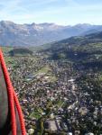 les montgolfières survolent Megève