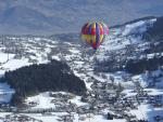 flying over Megève on board of balloon
