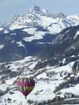 Aravis, ballooning close to Grand Bornand