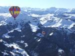 vol en montgolfière face au Beaufortain
