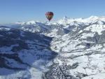 balloonning over Praz sur Arly, France