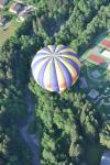 décollage de la montgolfière