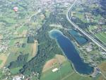 atterrissage en montgolfière sur Sallanches